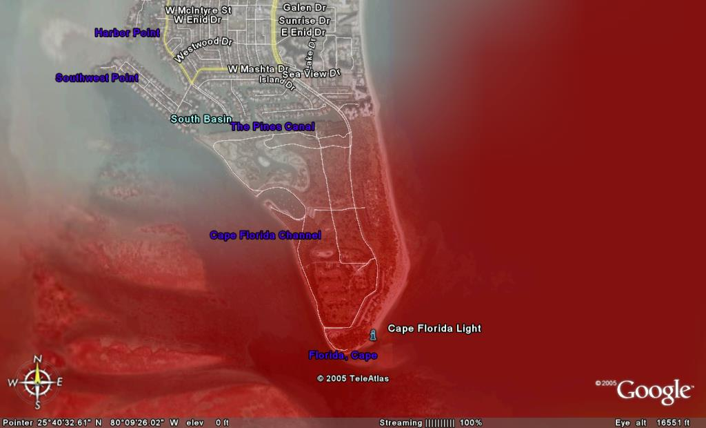 [Luminic Map of Southern Key Biscayne]