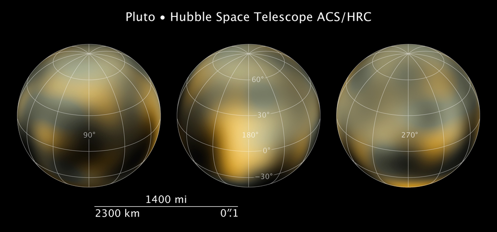 New Hubble Maps of Pluto Showing Surface Changes