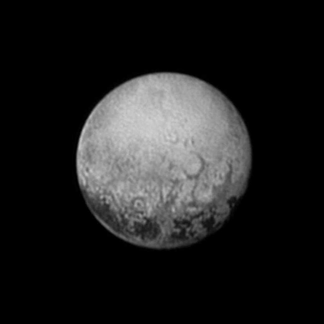 New Horizons Photograph of Pluto Shows Surface Features (July 11 '15)